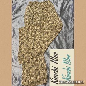 Kimchi blue high waist feather pants wide leg S